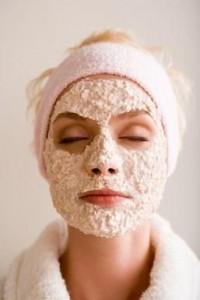 oatmeal to expoliate face skin
