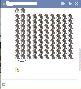 how to do facebook emoticons in chat