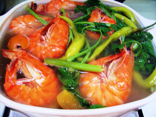 shrimp sinigang sinigang na how to cook sinigang na hipon sinigang na ...