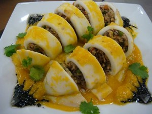rellenong pusit or stuffed squid recipe ingredients